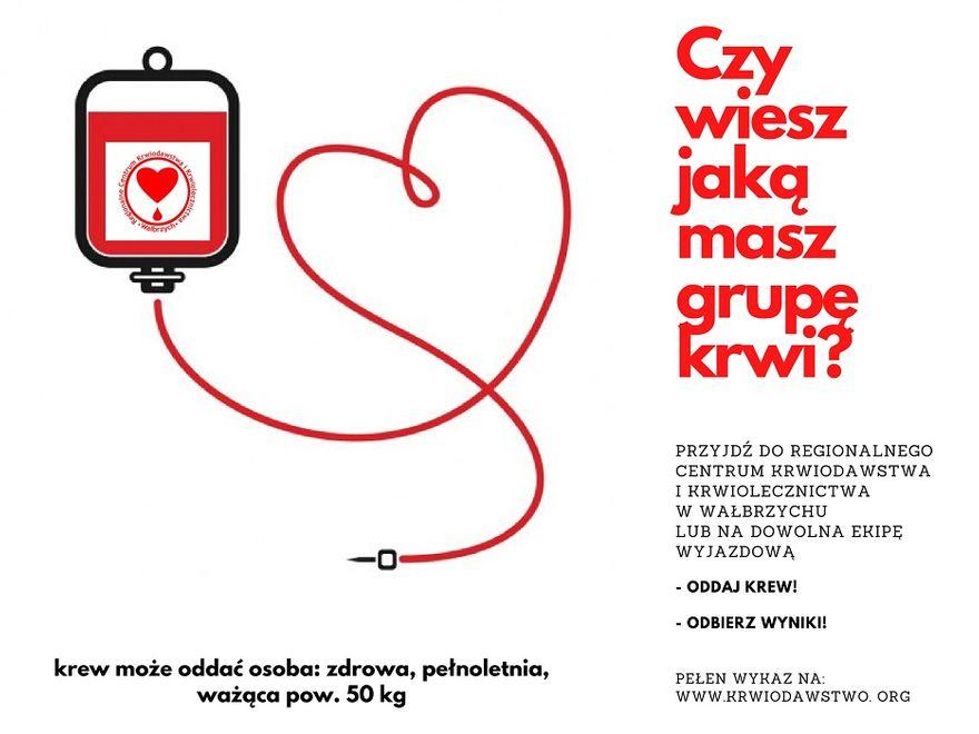 Wałbrzych/REGION: Poznaj swoją grupę krwi