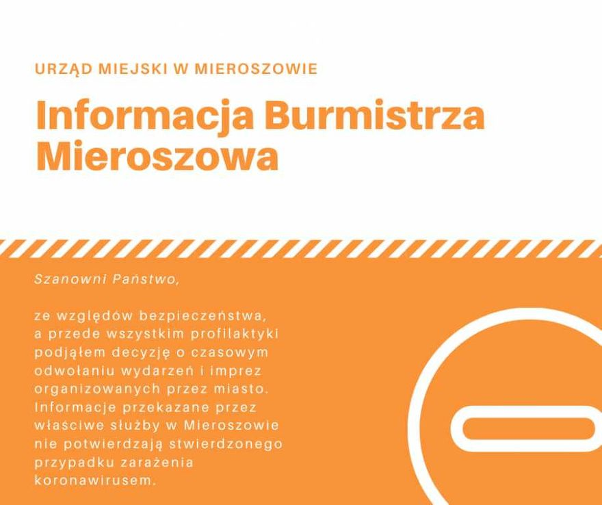 REGION, Mieroszów: Burmistrz wydał oświadczenie