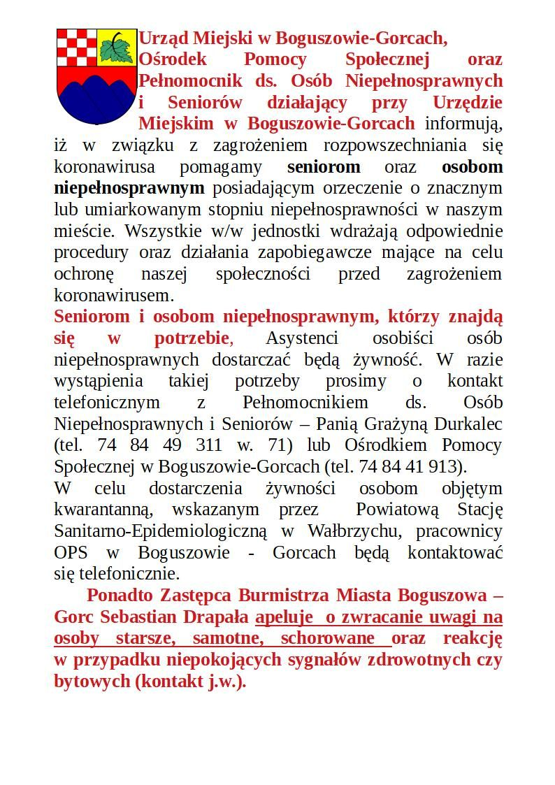 REGION, Boguszów-Gorce: Zorganizowali wsparcie