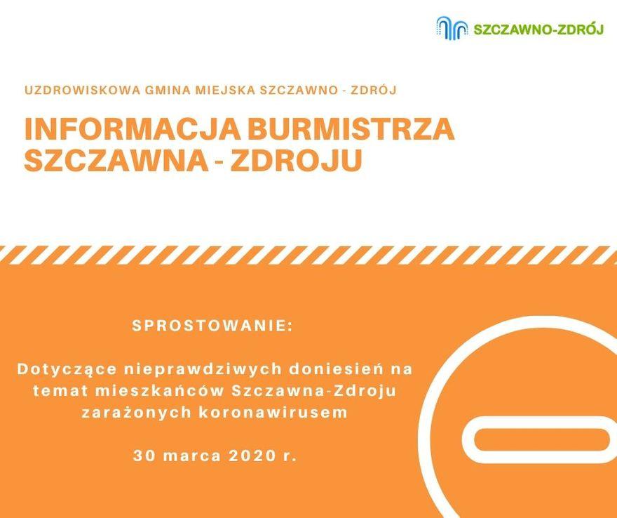 REGION, Szczawno-Zdrój: Burmistrz uspokaja