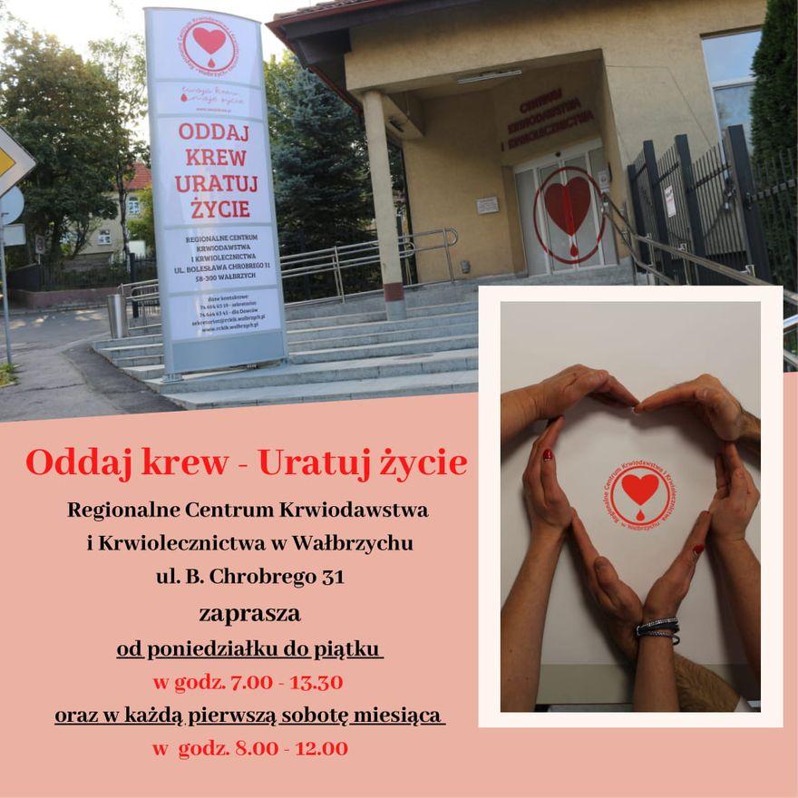 Wałbrzych/REGION: Można oddawać krew