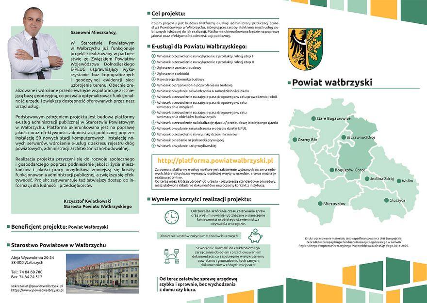 powiat wałbrzyski: E–usługi dostępne w Starostwie Powiatowym w Wałbrzychu