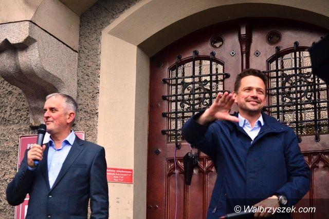Wałbrzych: Trzaskowski rozmawiał z wałbrzyszanami