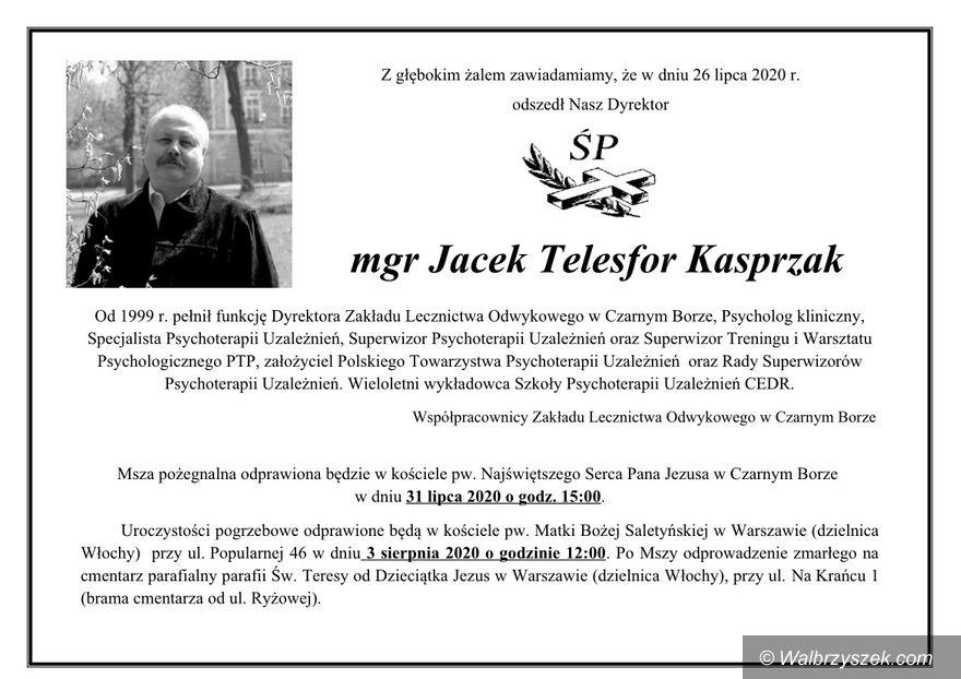 REGION, Czarny Bór: Zmarł Jacek Kasprzak