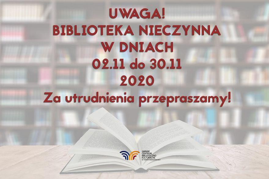 REGION, Stare Bogaczowice: Biblioteka będzie nieczynna