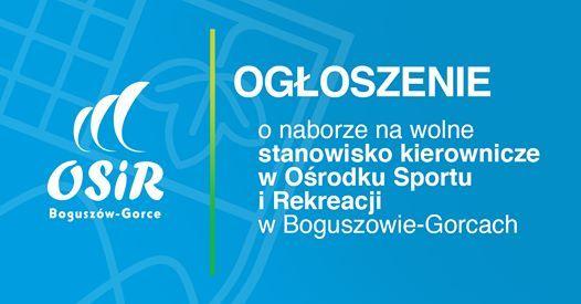 REGION, Boguszów-Gorce: Stanowisko kierownicze czeka