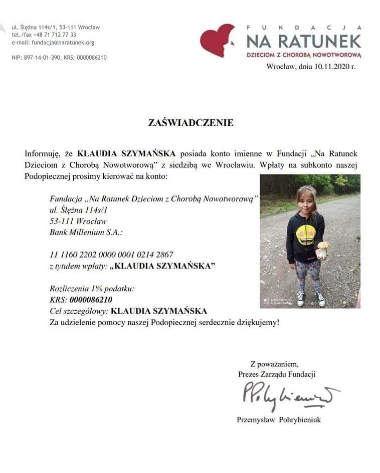 REGION, Głuszyca: Pomoc dla Klaudii