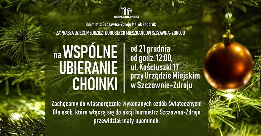 REGION, Szczawno-Zdrój: Przyozdobią choinkę