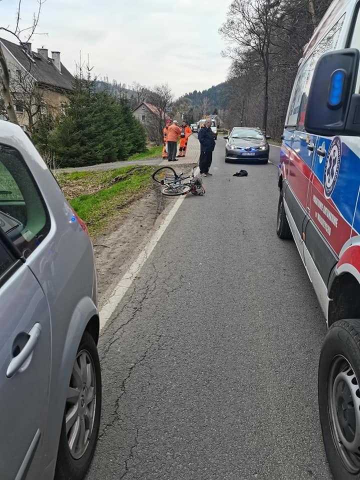 REGION, Kowalowa: Potrącony rowerzysta