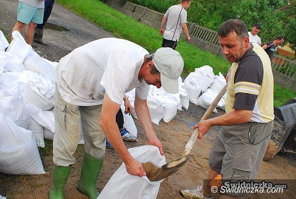 gmina Marcinowice: Zalane domy, podtopione pola