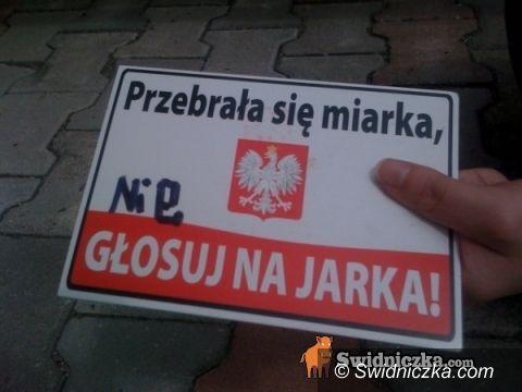 """Świdnica: """"Nie głosuj na Jarka!"""""""