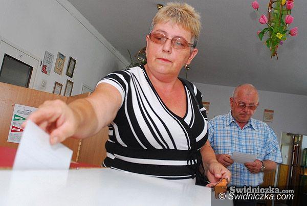 powiat świdnicki: Wybieramy prezydenta: do godz. 8.00 w powiecie zagłosowały 3102 osoby