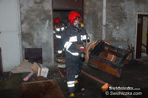 Strzegom: Pożar w Strzegomiu, spłonęło mieszkanie przy Wolskiej