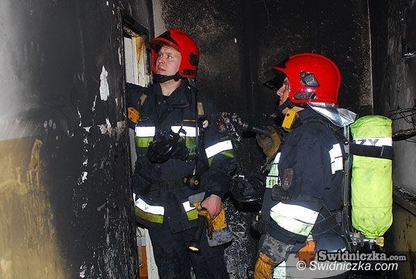 powiat świdnicki: Dym w mieszkaniach