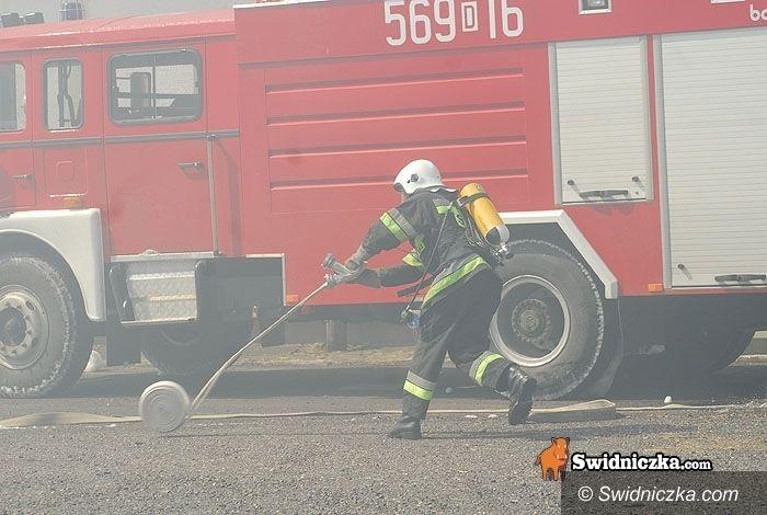 Świdnica: Pożar przed świtem na Zarzeczu