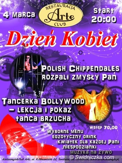 Świdnica: Pisz życzenia dla kobiet, wygraj wejściówkę na występ striptizerów i pokaz tańca brzucha!
