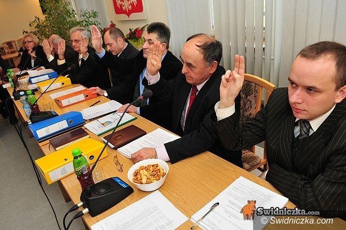 gmina Świdnica: Pożyczka na drogę i inne uchwały na VIII sesję świdnickiej gminy