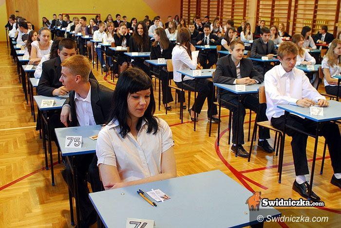 Świdnica: Dziś patriotycznie – testy w gimnazjach