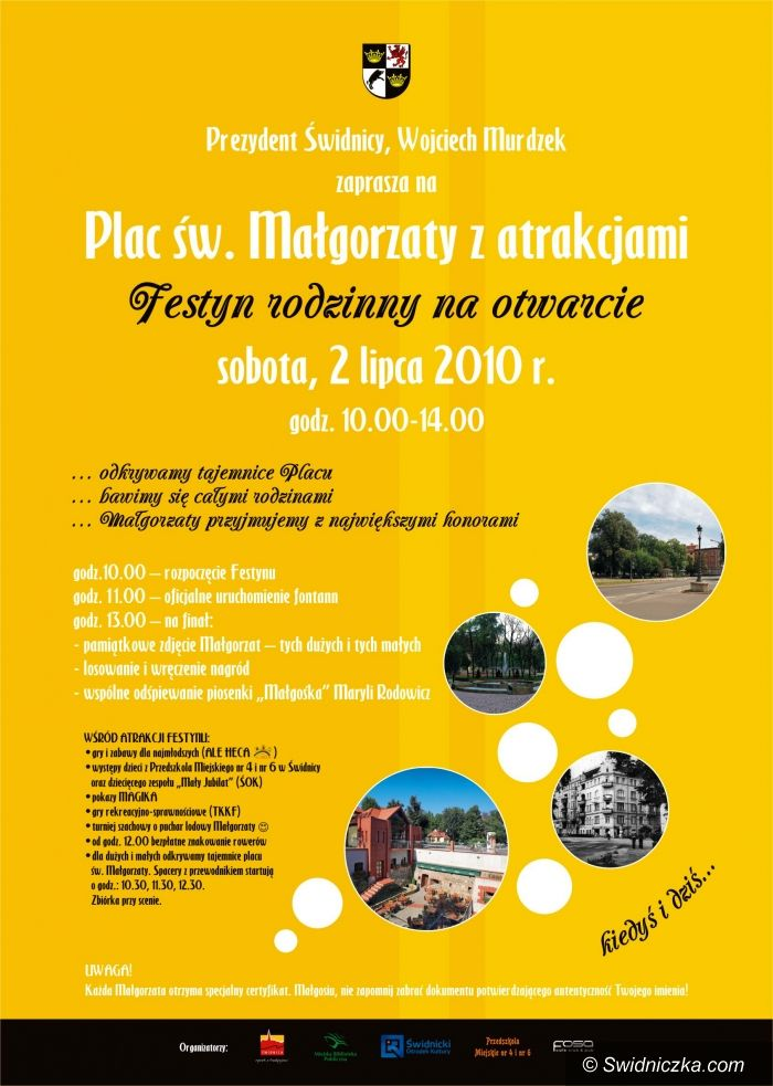 Świdnica: Festyn na otwarcie placu Św. Małgorzaty