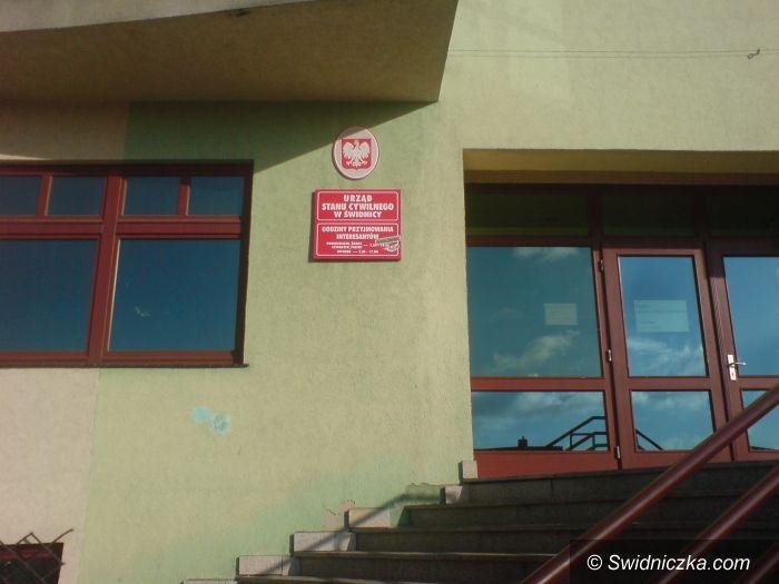 Świdnica: Wejście do USC będzie chwilowo przeniesione