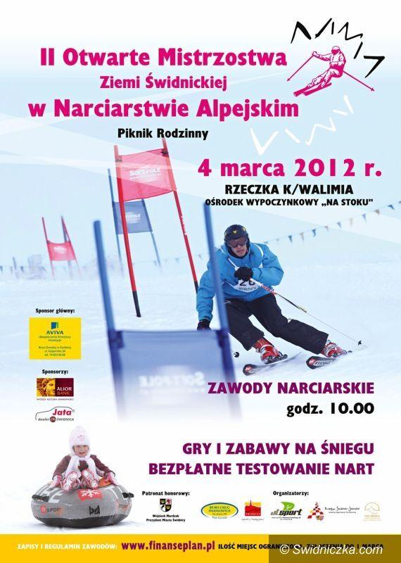Świdnica, Rzeczka: Narciarskie mistrzostwa Świdnicy po raz drugi