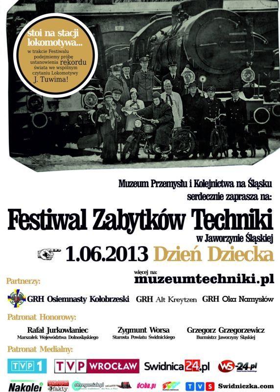 Festiwal Zabytków Techniki Pod Parą świdniczkacom