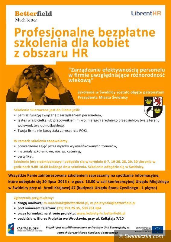 Świdnica: Profesjonalne bezpłatne szkolenia dla kobiet z obszaru HR