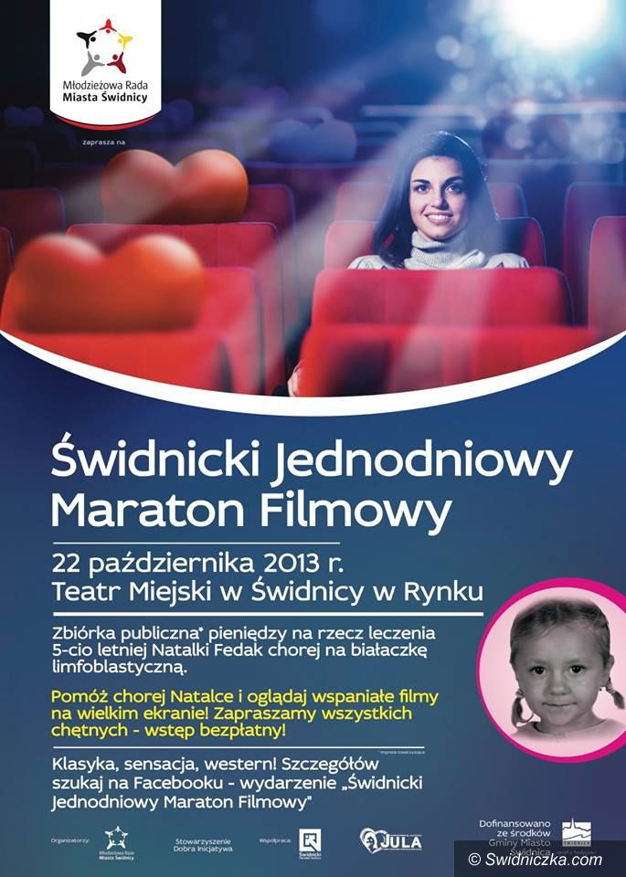 Świdnica: Zapraszamy na Świdnicki Jednodniowy Maraton Filmowy