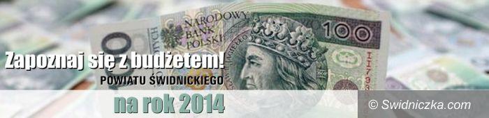 powiat świdnicki: Projekt budżetu powiatu świdnickiego na 2014 rok