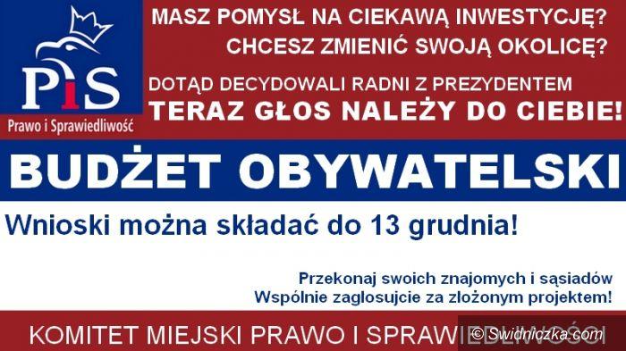 Świdnica: PiS promuje inicjatywę budżetu obywatelskiego w Świdnicy