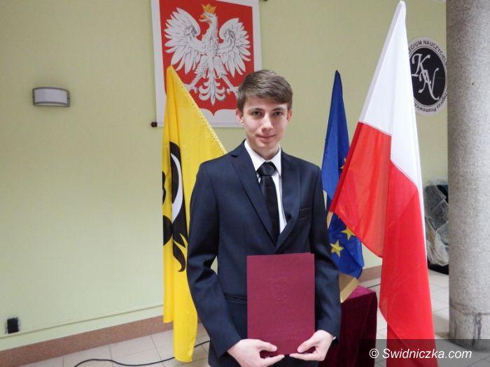Wrocław: Najlepszy stypendysta powiatu świdnickiego