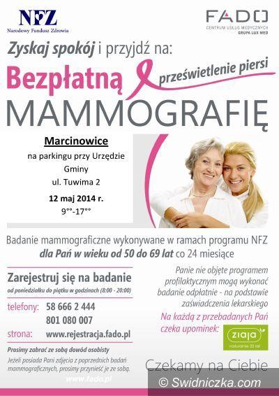 Marcinowice: Bezpłatna mammografia