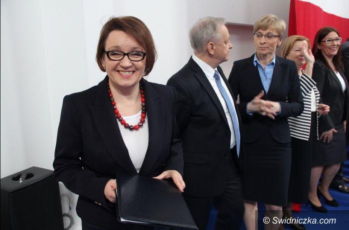 Świdnica: Zalewska i Ujazdowski o aferze taśmowej