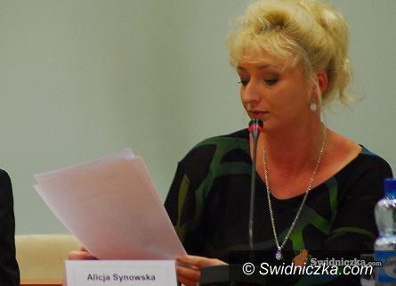 Świdnica: Oświadczenie Alicji Synowskiej w sprawie popracia przez PO prezydenta Wojciecha Murdzka