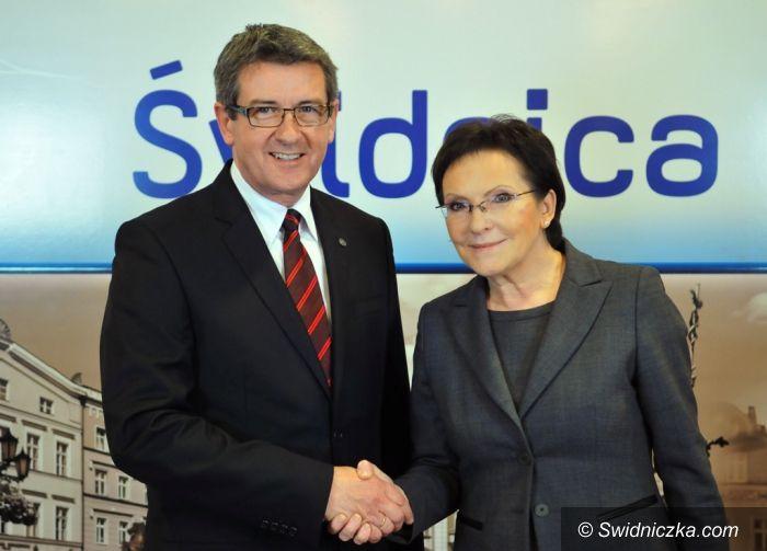 Krzyżowa: Prezydent Świdnicy z Premier Kopacz