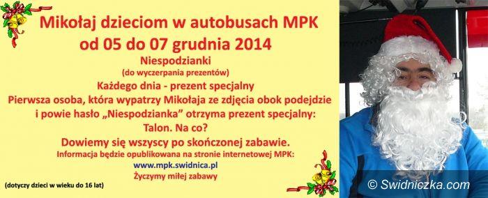 Świdnica: Akcja Mikołaj dzieciom w autobusach MPK Świdnica