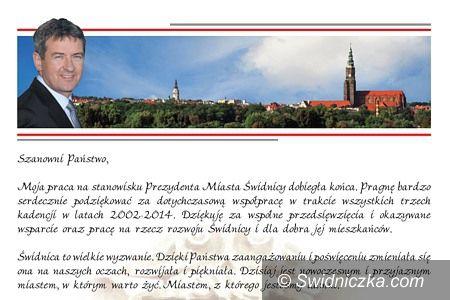 Świdnica: Wojciech Murdzek: Moja praca na stanowisku Prezydenta dobiegła końca