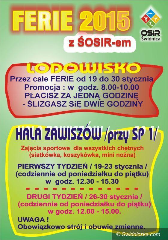 Świdnica: Ferie 2015 z ŚOSIR–em