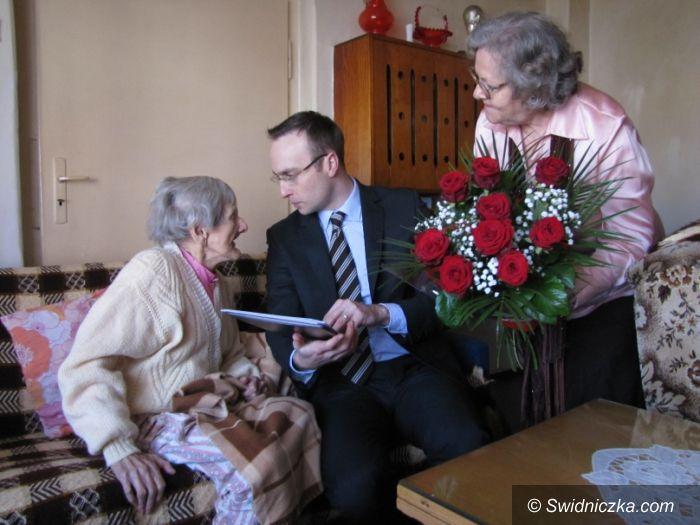 Świdnica: Setne urodziny Pani Łucji ze Świdnicy