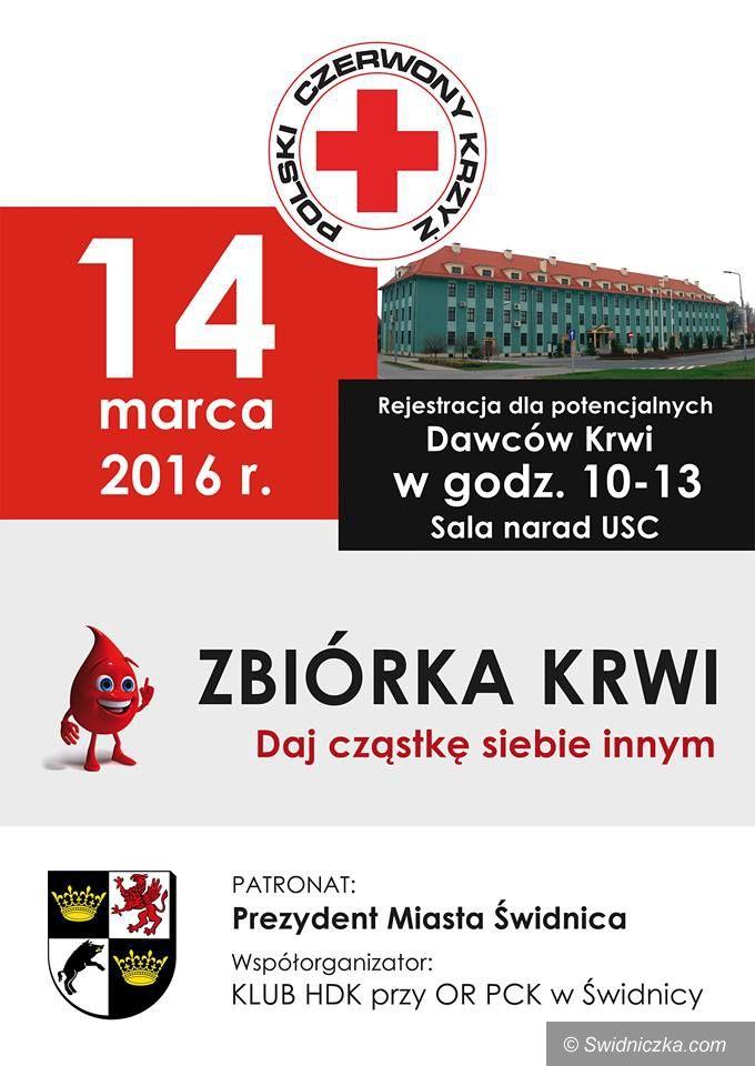 Świdnica: Jutro akcja poboru krwi