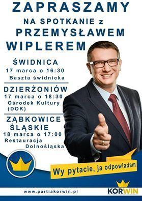 Świdnica: Przemysław Wipler w Świdnicy
