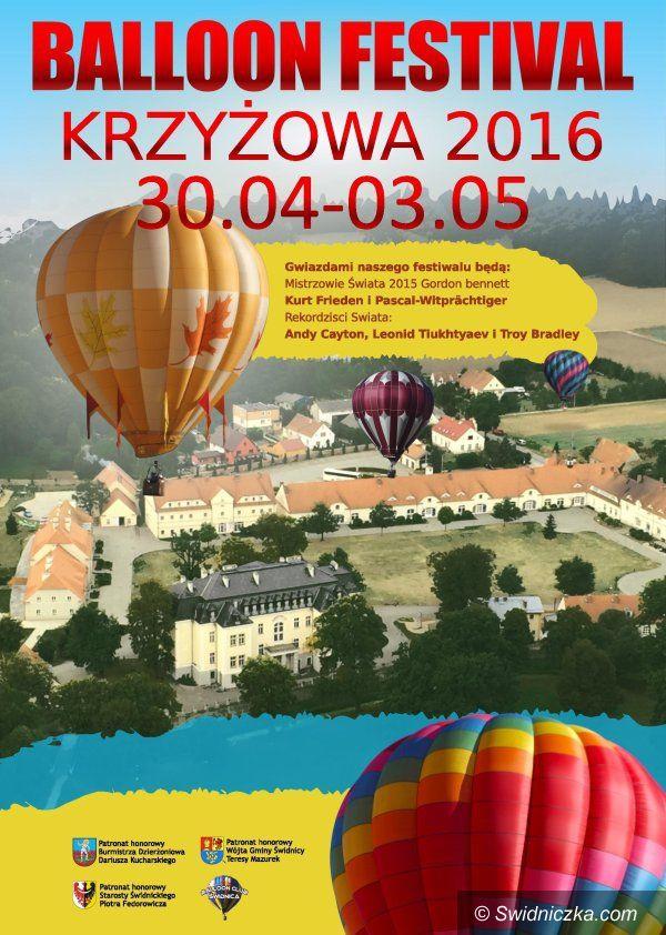 Świdnica: II Balloon Festiwal Krzyżowa 2016
