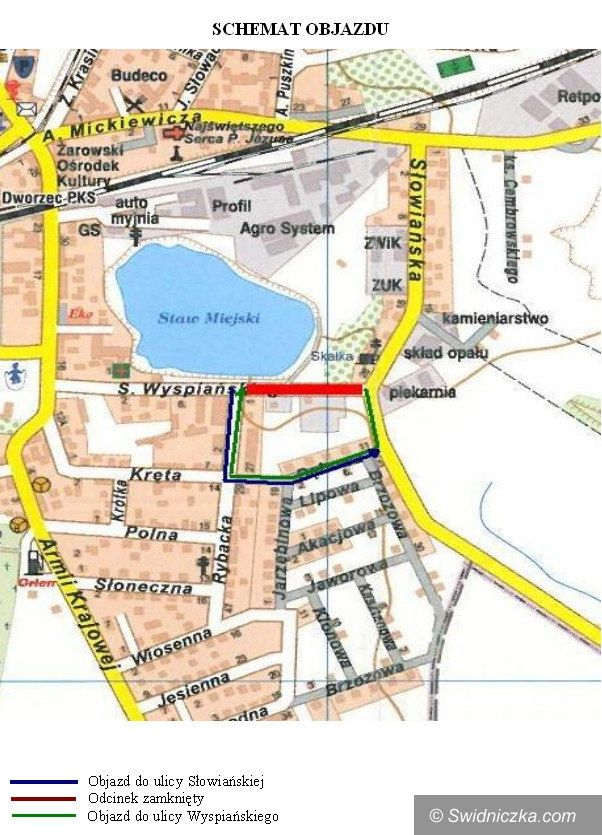 Żarów: Ulica Wyspiańskiego będzie zamknięta