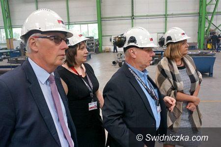 Świdnica: Prezydent Świdnicy z wizytą w firmie ZUPBADURA