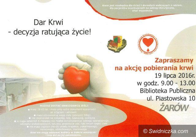 Żarów: Wakacyjna zbiórka krwi