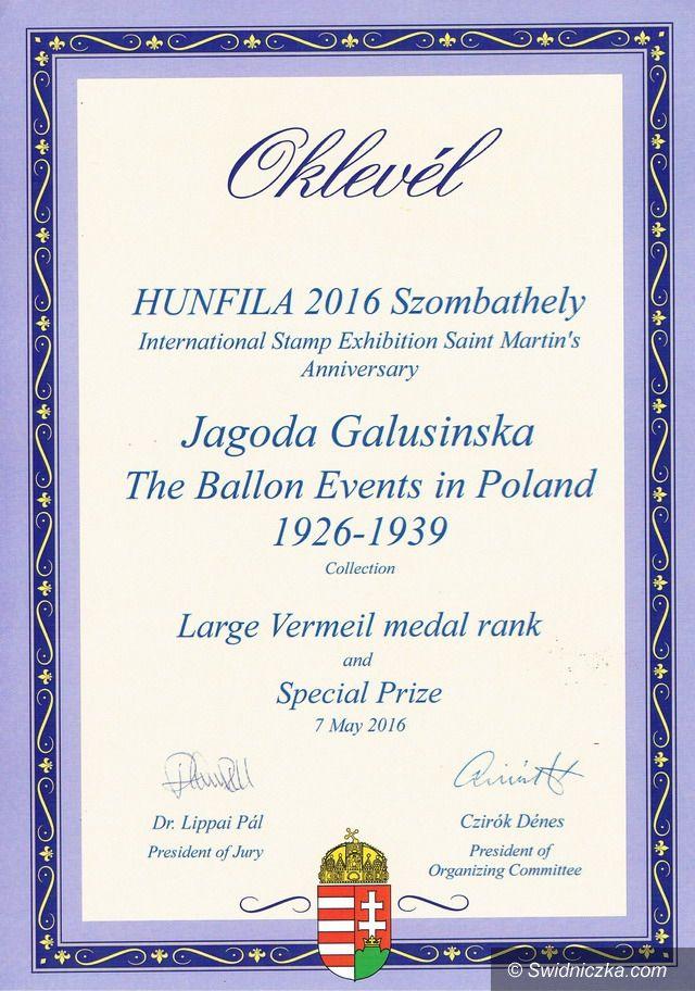 Świebodzice: Złoty medal dla naszej filatelistki