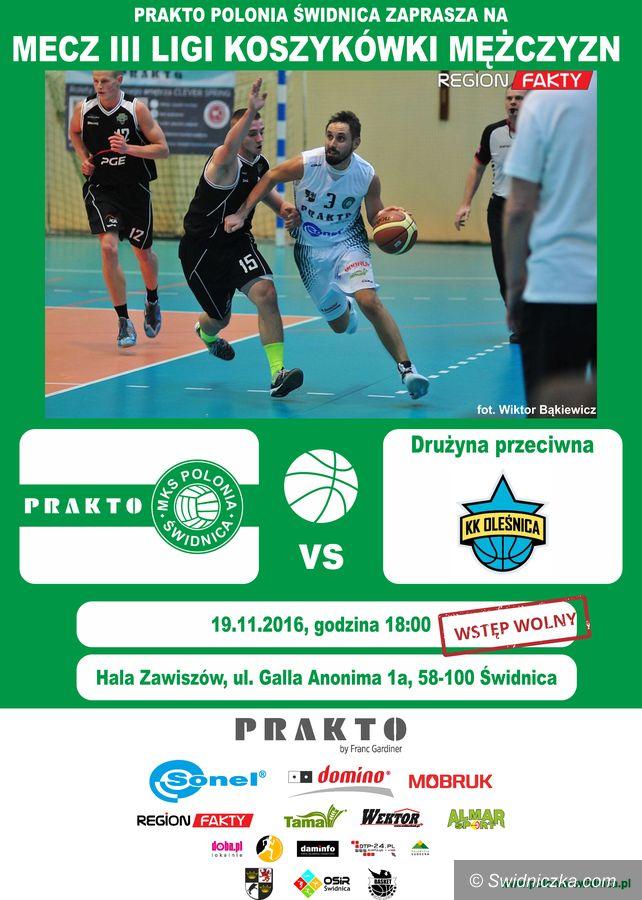 Świdnica: III liga koszykówki: Polonia podejmie Oleśnicę