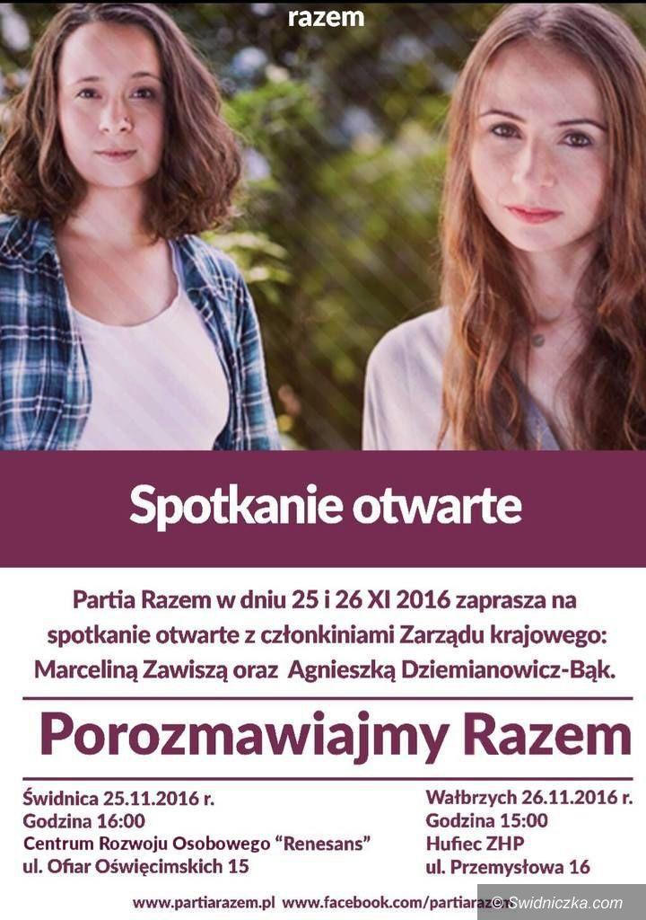 Świdnica: Partia Razem zaprasza do Świdnicy na spotkanie otwarte