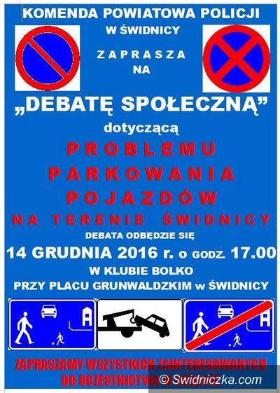 Świdnica: Zapraszamy na debatę społeczną dotyczącą problemu parkowania