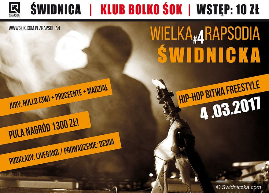Świdnica: Przed nami Wielka Rapsodia Świdnicka czyli hip–hopowa bitwa freestyle